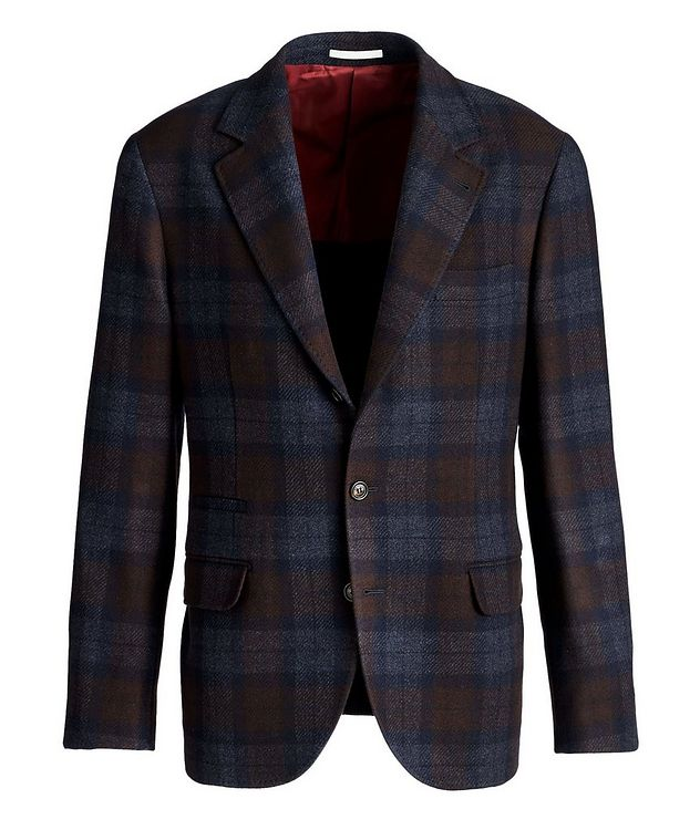 Checked Wool-Cashmere Sports Jacket picture 1