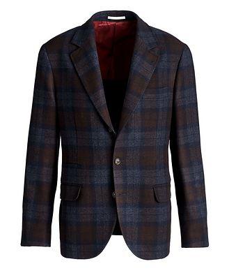 Brunello Cucinelli Checked Wool-Cashmere Sports Jacket