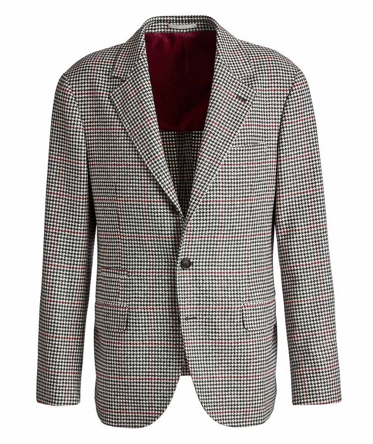 Houndstooth Wool-Cashmere Sports Jacket image 0