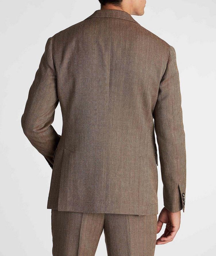 Herringbone Wool, Linen, and Silk Sports Jacket image 2