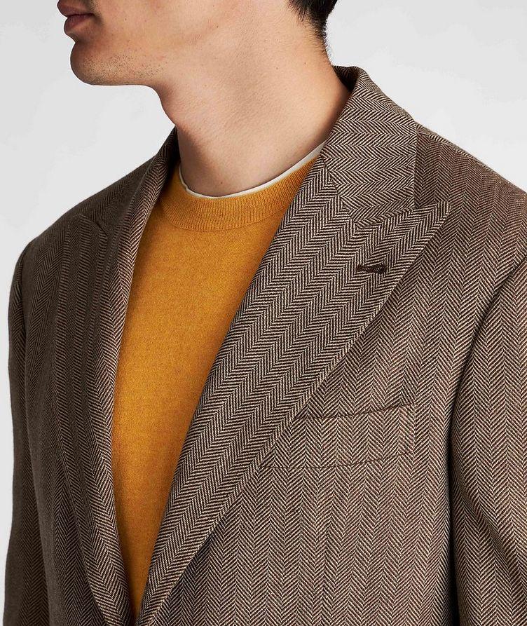 Herringbone Wool, Linen, and Silk Sports Jacket image 3