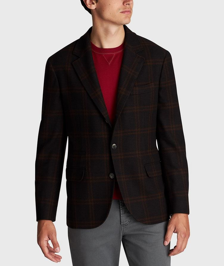 Checked Wool-Cashmere Sports Jacket image 0
