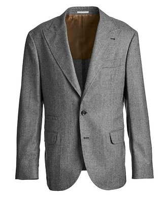 Brunello Cucinelli Houndstooth Virgin Wool Sports Jacket