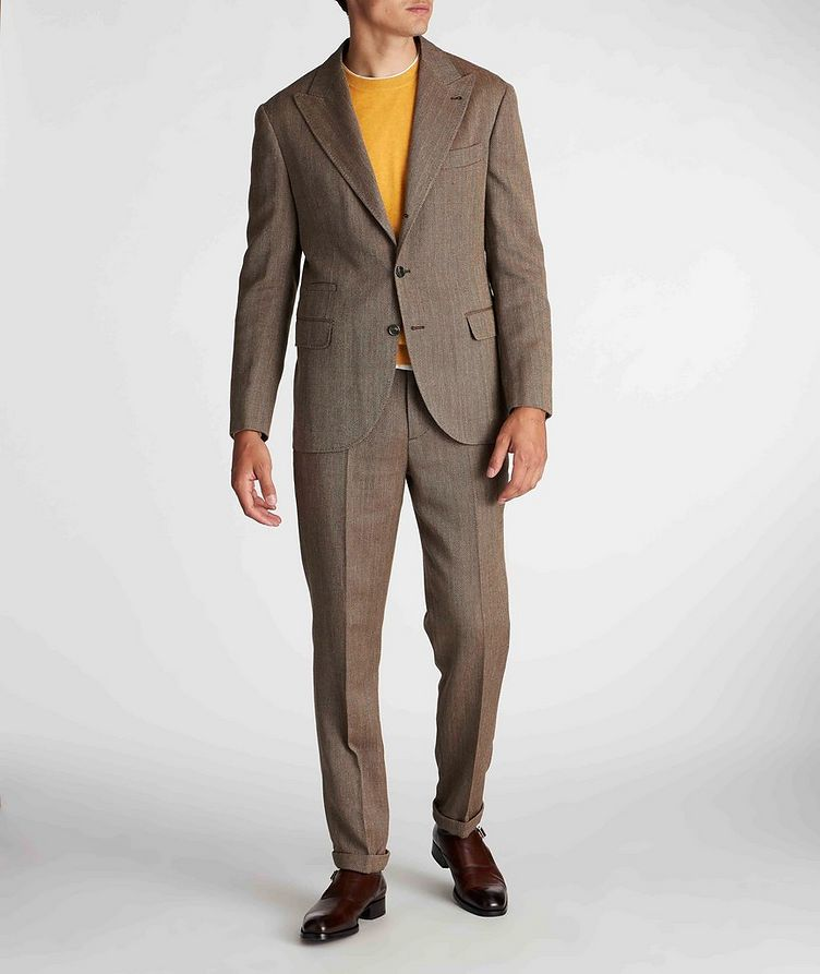 Herringbone Wool, Linen, and Silk Dress Pants image 5
