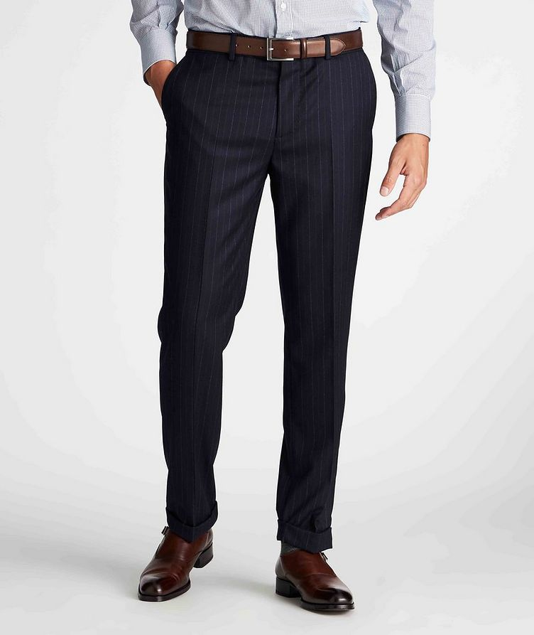 Contemporary Fit Pinstriped Dress Pants image 1