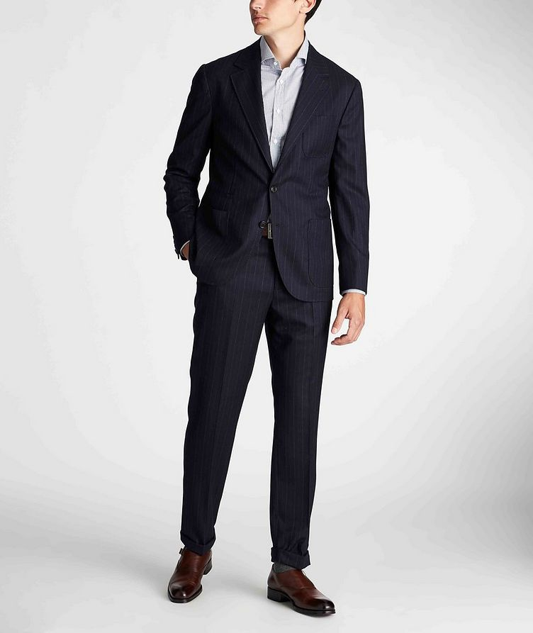 Contemporary Fit Pinstriped Dress Pants image 4