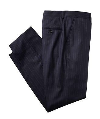 Brunello Cucinelli Contemporary Fit Pinstriped Dress Pants