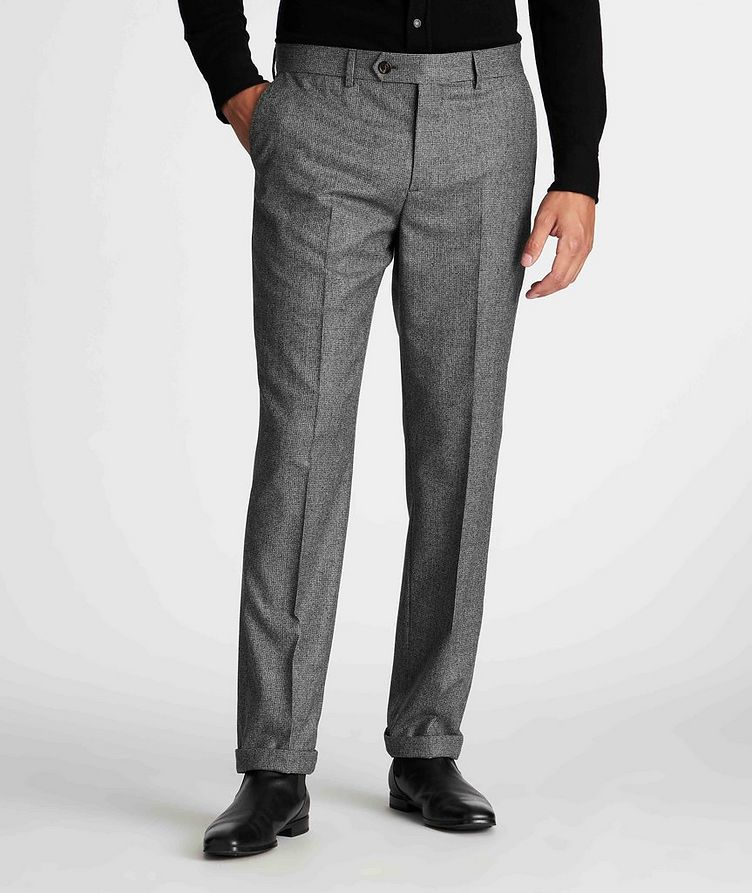 Houndstooth Wool Trousers image 1