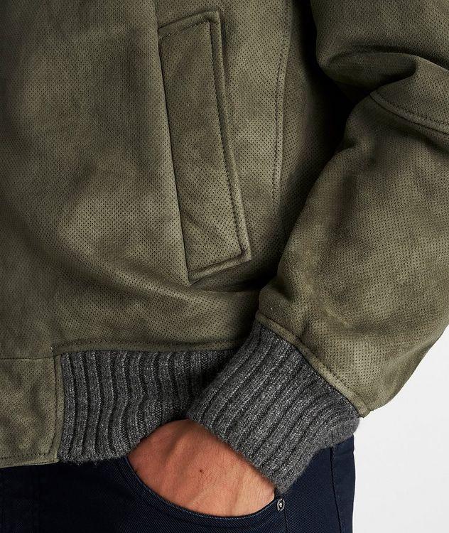 Fur-Trimmed Suede Bomber Jacket picture 5