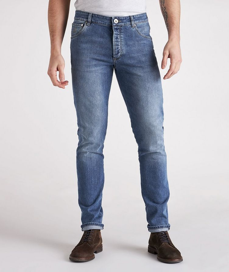 Skinny Fit Stretch-Cotton Jeans image 1