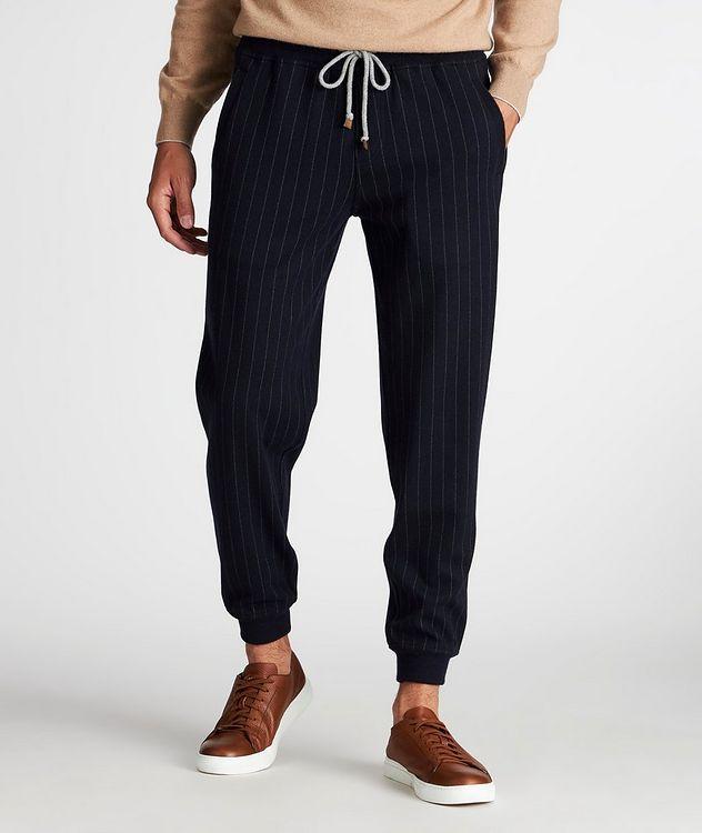 Pantalon sport en cachemire à fines rayures picture 2