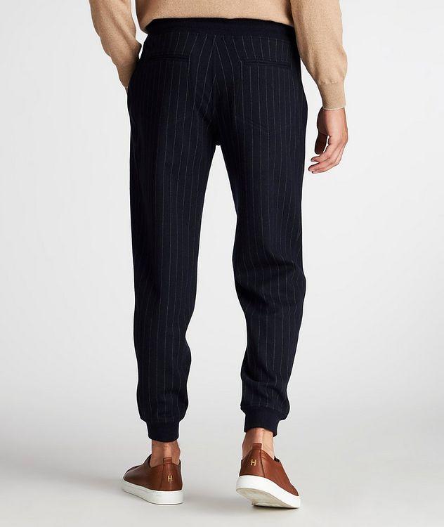 Pantalon sport en cachemire à fines rayures picture 3