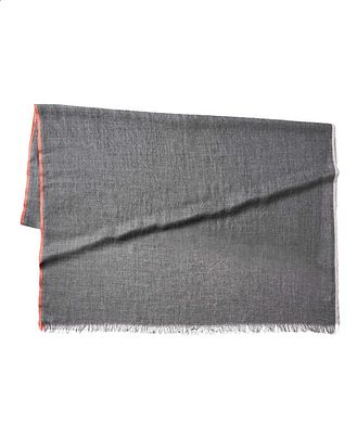 Brunello Cucinelli Striped Cashmere-Silk Scarf