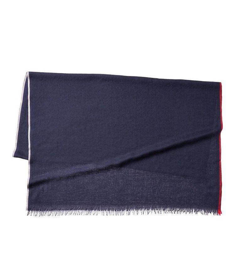 Striped Cashmere-Silk Scarf image 0