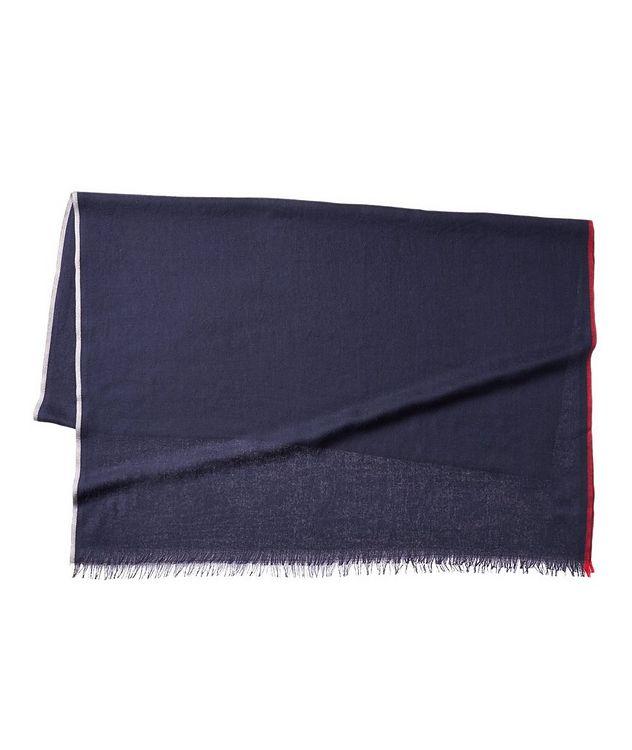 Striped Cashmere-Silk Scarf picture 1
