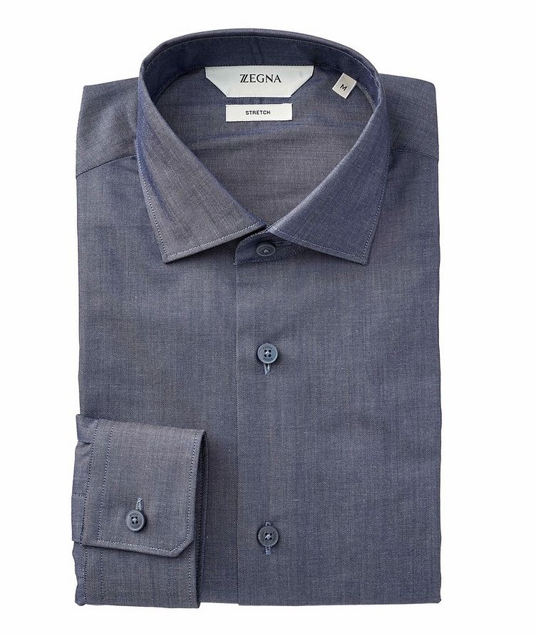 Contemporary Fit Stretch-Cotton Dress Shirt image 0