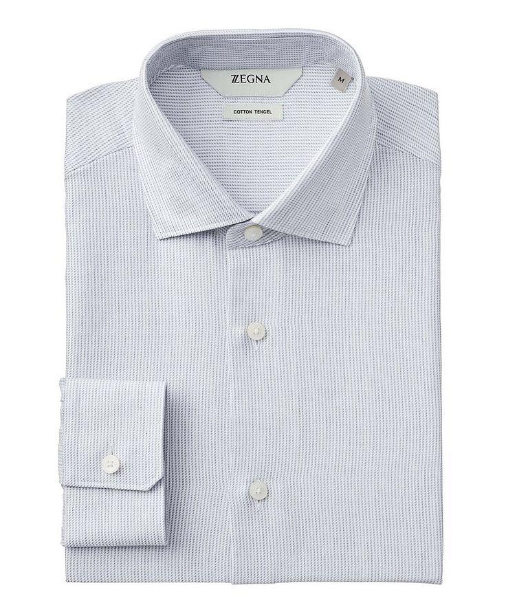 Geometric Cotton-Tencel Shirt image 0