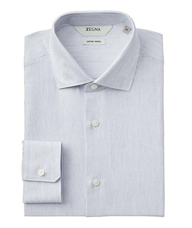 Geometric Cotton-Tencel Shirt picture 1