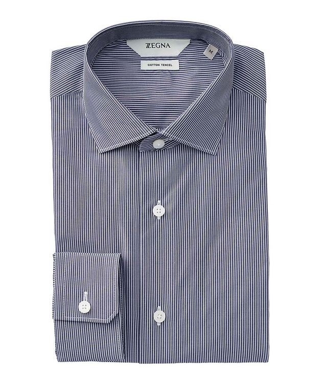 Striped Cotton-Tencel Shirt picture 1