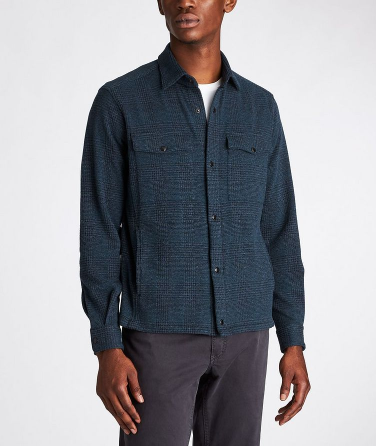 Plaid Stretch-Jersey Shirt Jacket image 1