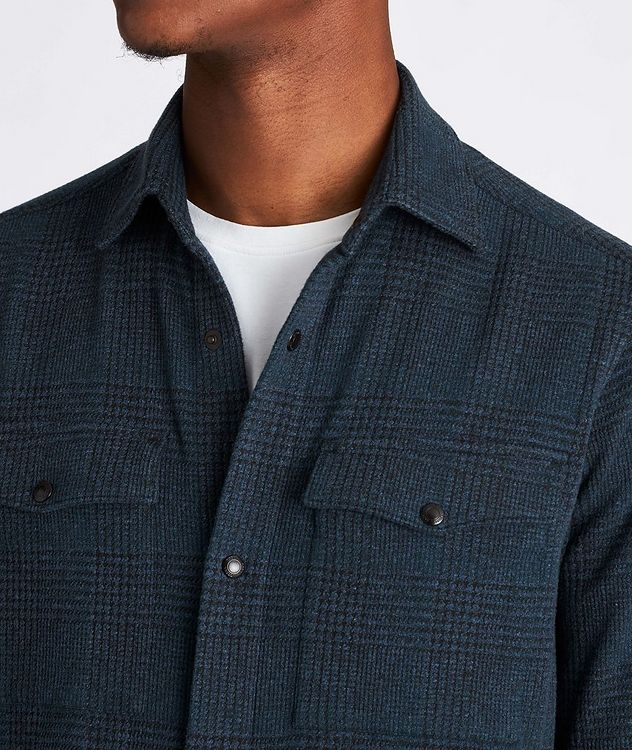 Plaid Stretch-Jersey Shirt Jacket picture 4