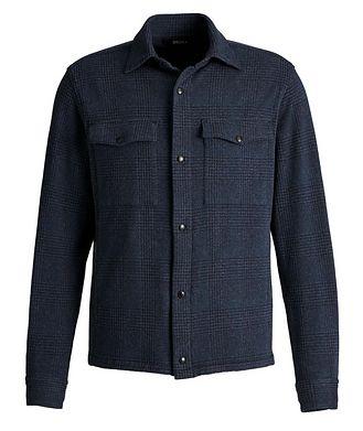 Z Zegna Plaid Stretch-Jersey Shirt Jacket