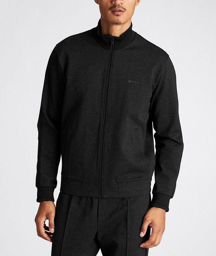 Zip-Up Stretch Sweatshirt image 1