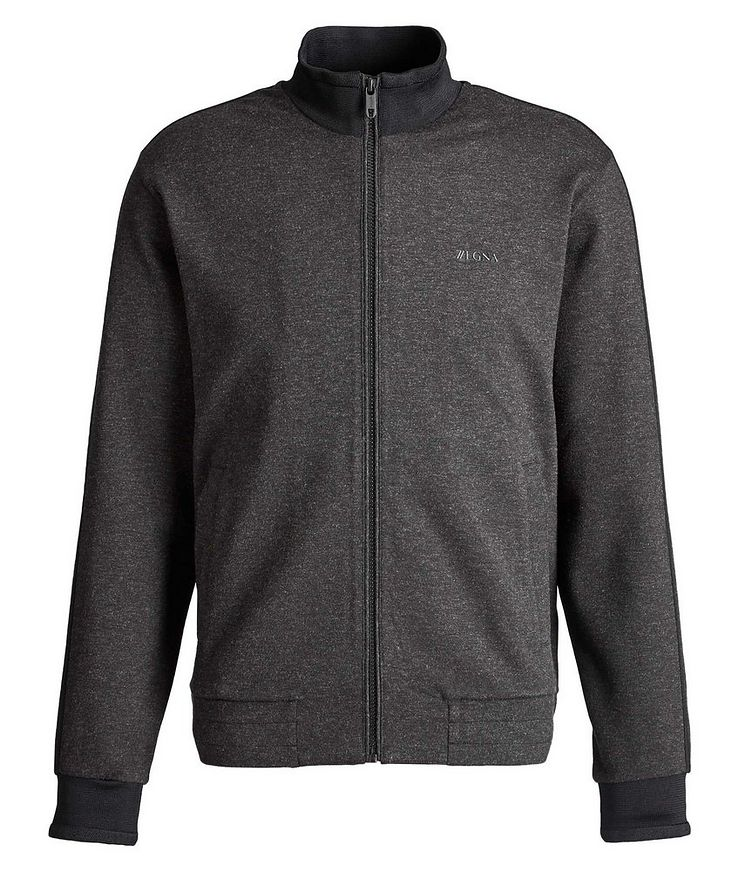 Zip-Up Stretch Sweatshirt image 0