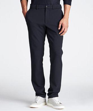 Z Zegna Pantalon en tissu extensible à cordon
