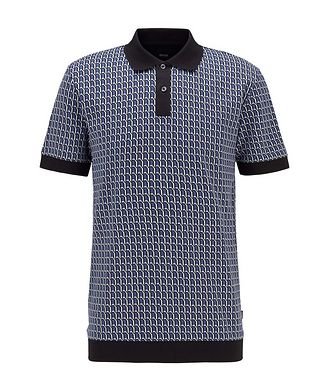 BOSS Textured Knit Polo