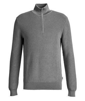 BOSS Pull en tricot à demi-glissière