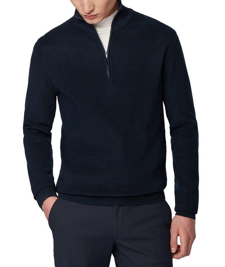 Half-Zip Knit Sweater image 1