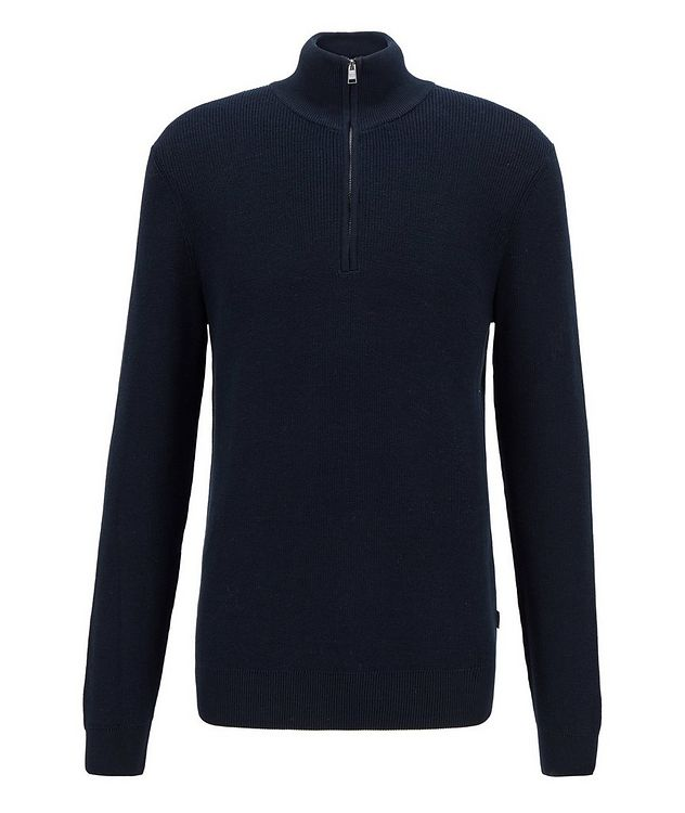 Half-Zip Knit Sweater picture 1