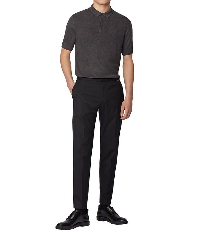 Knit Silk-Blend Polo picture 4