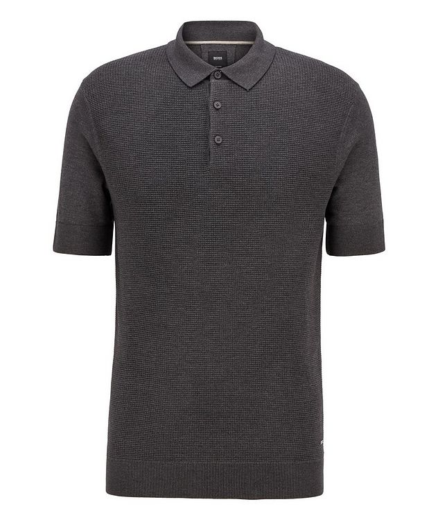 Knit Silk-Blend Polo picture 1