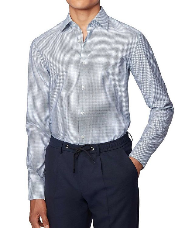 Slim Fit Dotted Dress Shirt picture 2