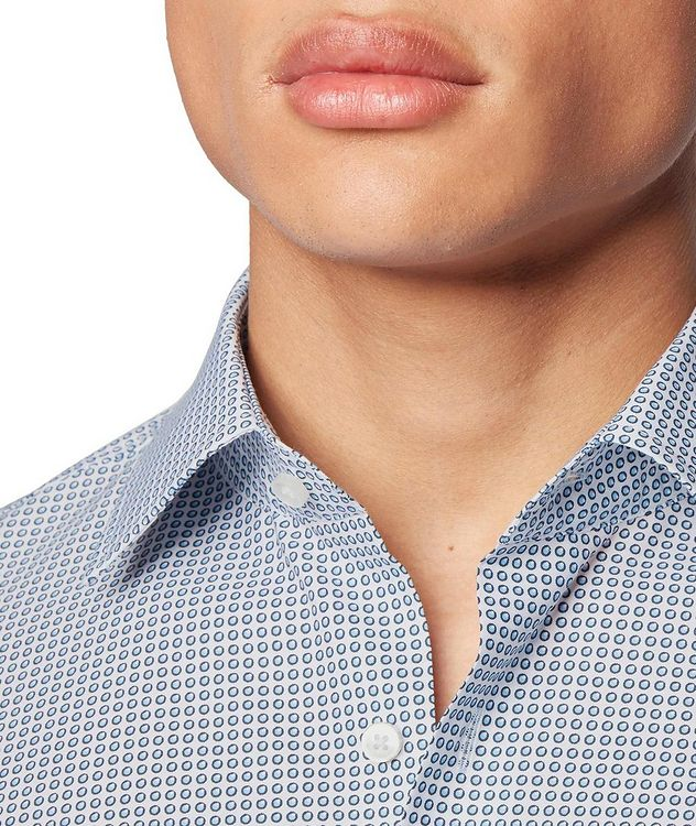 Slim Fit Dotted Dress Shirt picture 5