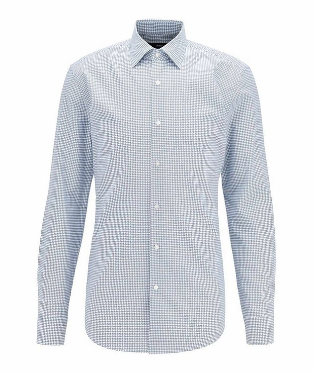 Slim Fit Dotted Dress Shirt picture 1