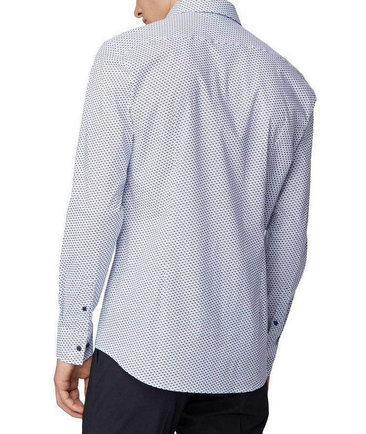 Slim Fit Fish-Printed Dress Shirt image 2