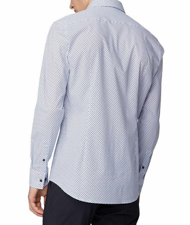 Slim Fit Fish-Printed Dress Shirt picture 3