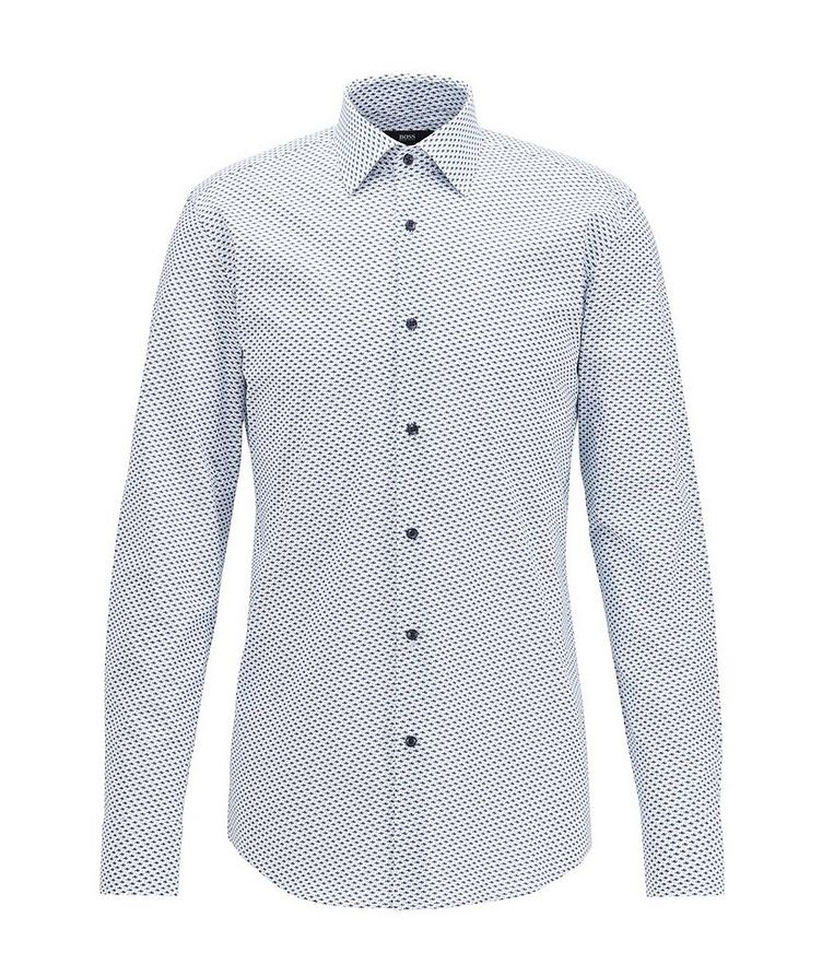 Slim Fit Fish-Printed Dress Shirt image 0