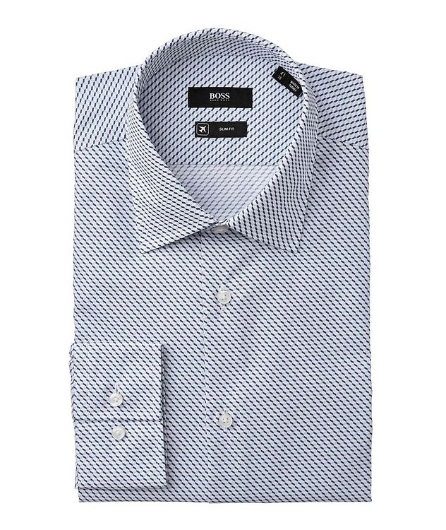 Slim Fit Geometric-Printed Dress Shirt picture 1