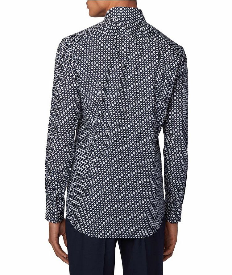 Slim Fit Diamond-Printed Dress Shirt image 2