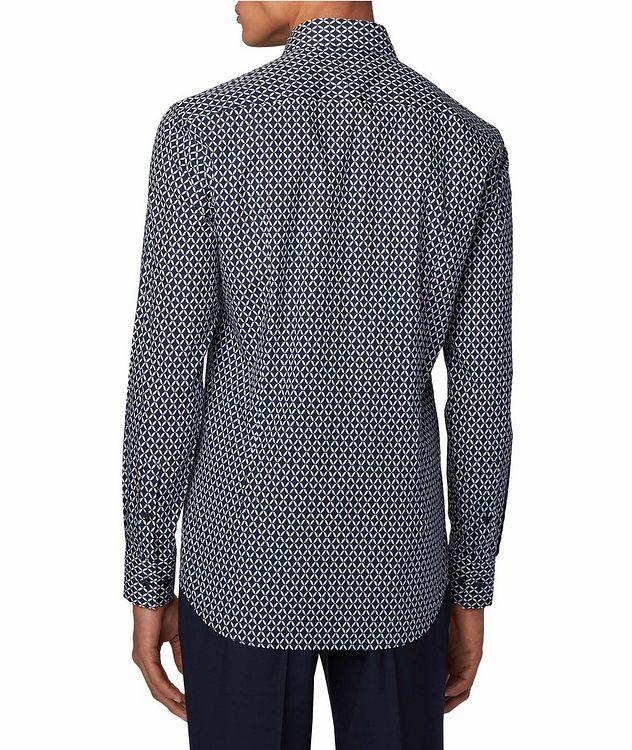 Slim Fit Diamond-Printed Dress Shirt picture 3