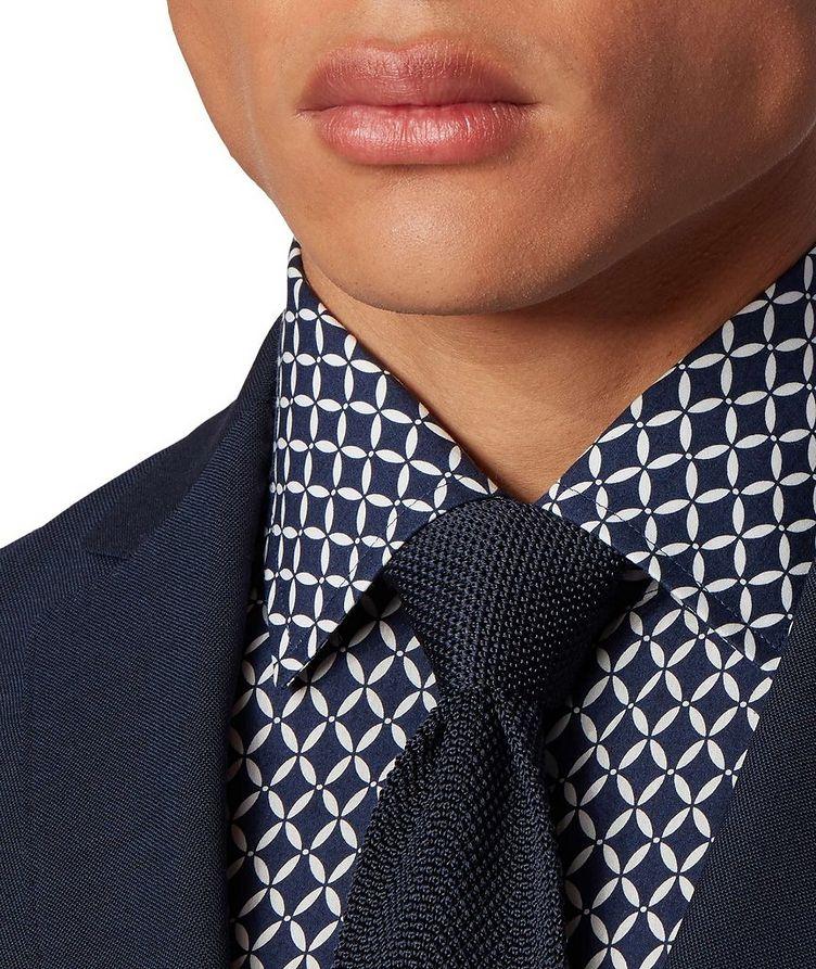 Slim Fit Diamond-Printed Dress Shirt image 4