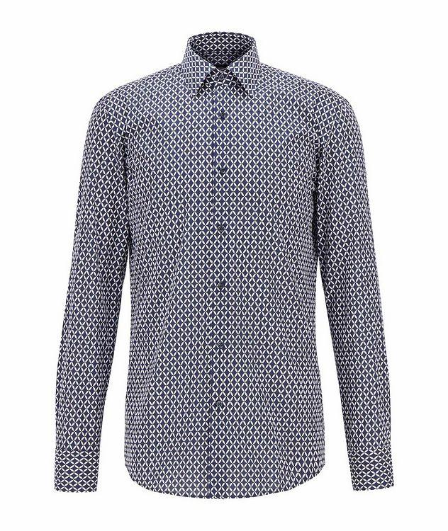 Slim Fit Diamond-Printed Dress Shirt picture 1