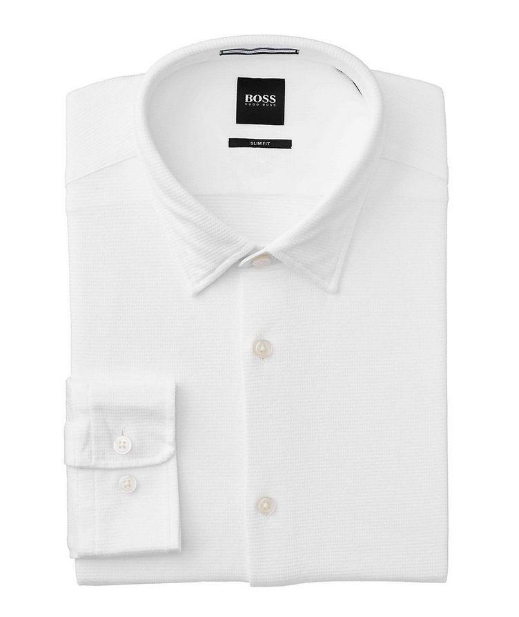 Slim Fit Cotton Piqué Shirt image 0