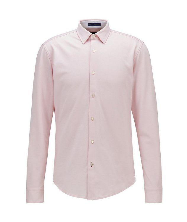 Slim Fit Cotton Piqué Shirt picture 1