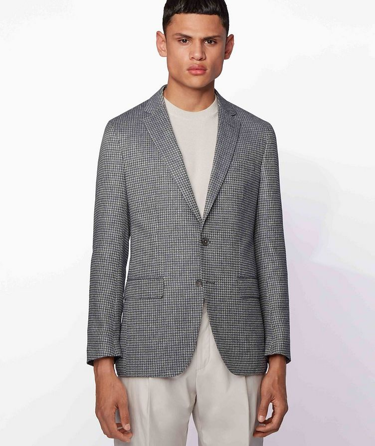 Harlay2 Houndstooth Linen-Wool Sports Jacket image 1