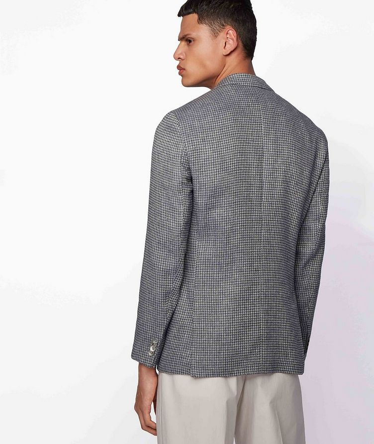 Harlay2 Houndstooth Linen-Wool Sports Jacket image 2